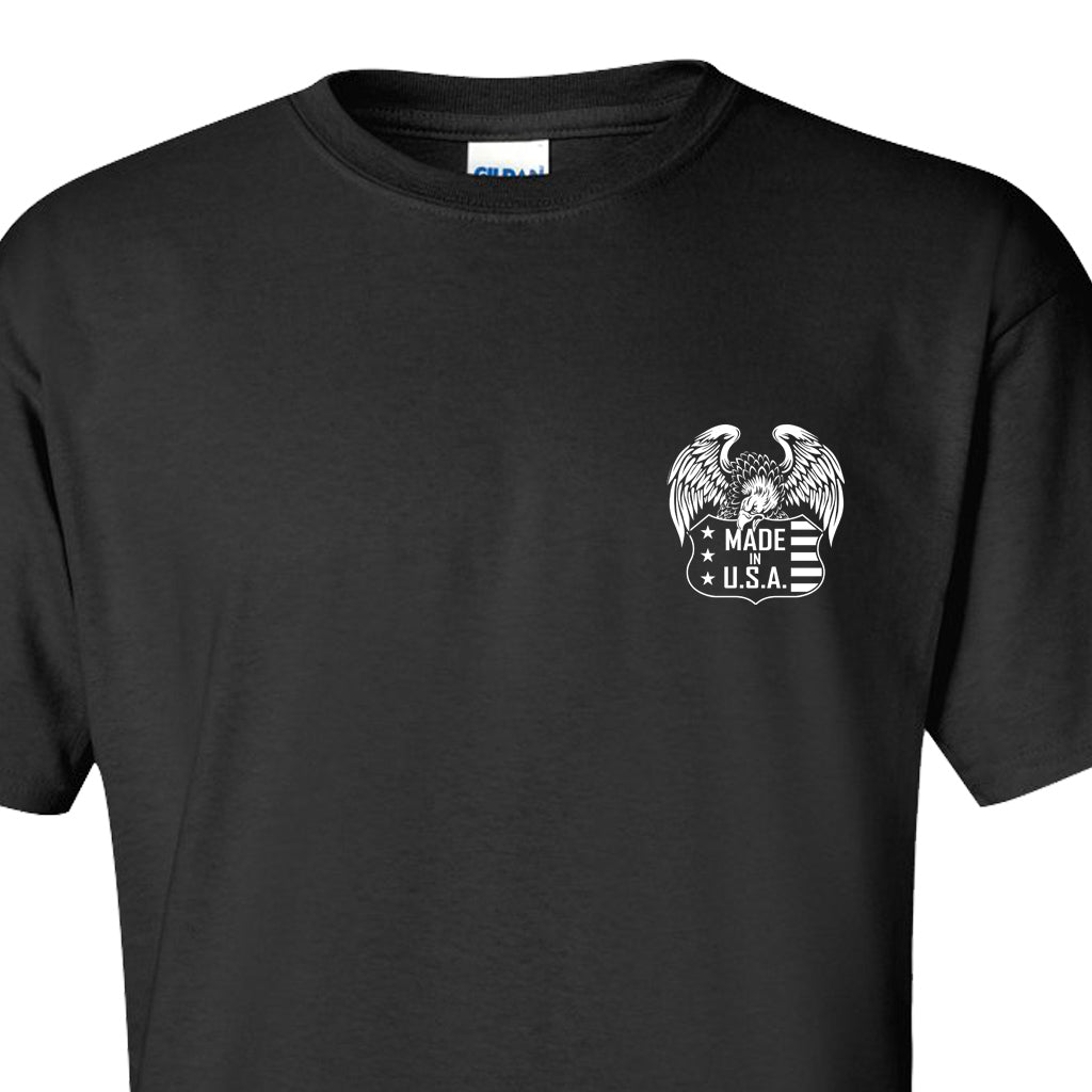EAGLE USA - Black T-Shirt 100% Made in USA