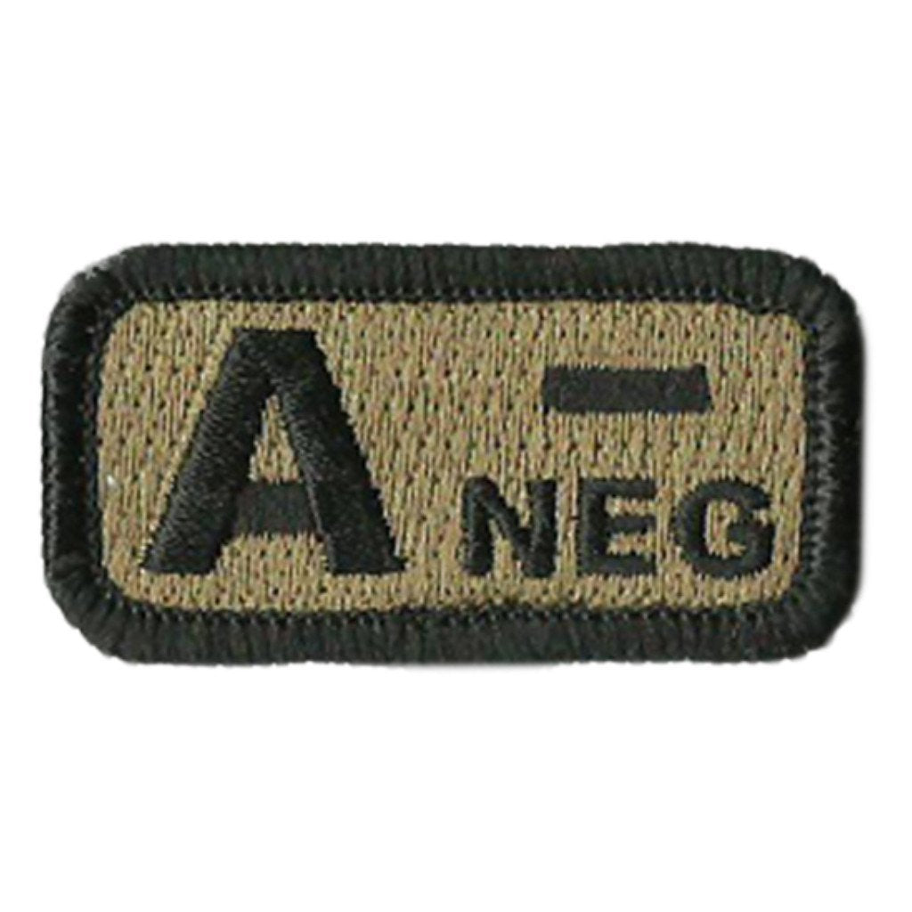 "Blood Type Patches - Type A Negative - 2"" x 1"""