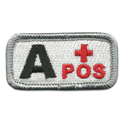 "Blood Type Patches - Type A Positive - 2"" x 1"""