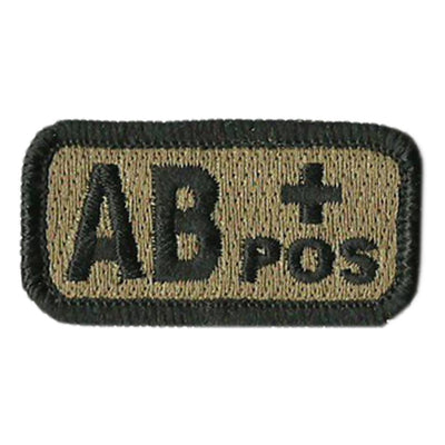 "Blood Type Patches - Type AB Positive - 2"" x 1"""