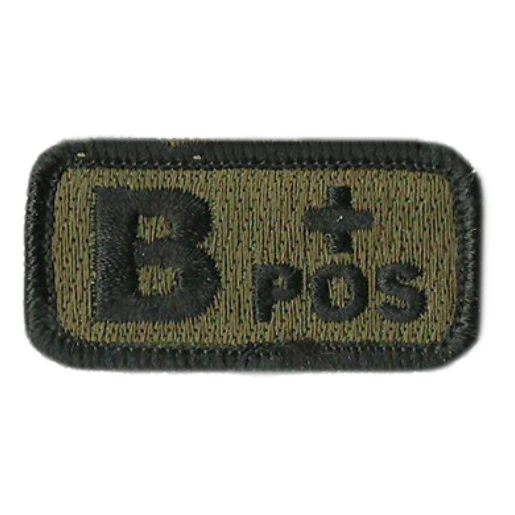 "Blood Type Patches - Type B Positive - 2"" x 1"""