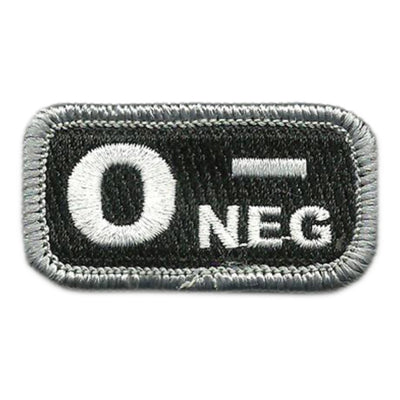 "Blood Type Patches - Type O Negative - 2"" x 1"""