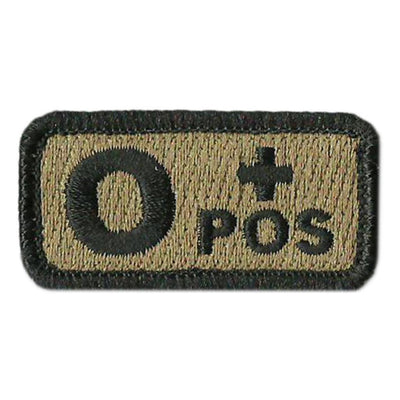 "Blood Type Patches - Type O Positive - 2"" x 1"""