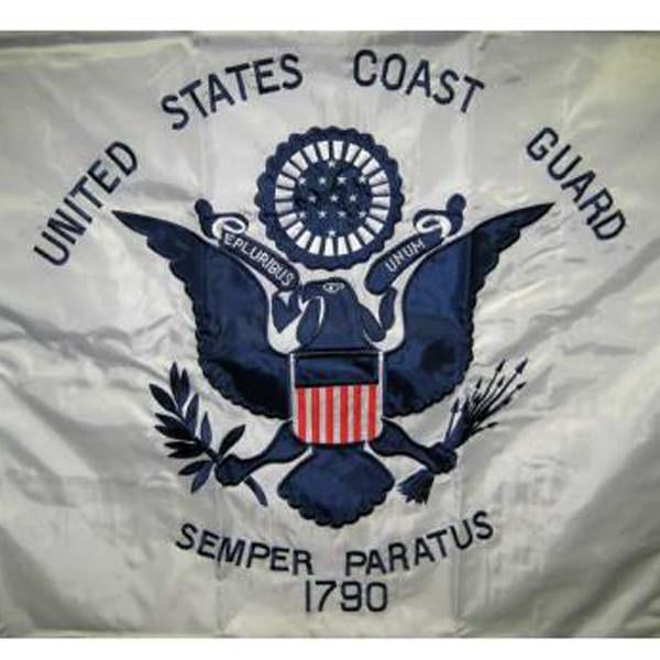 3x5 ft Coast Guard Sided Embroidered Flag