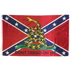 3x5 ft Rebel Gadsden Color Rattler Super-Poly Flag