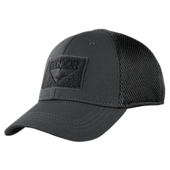 Build Your MESH-BACK Fitted Tactical Cap - Black