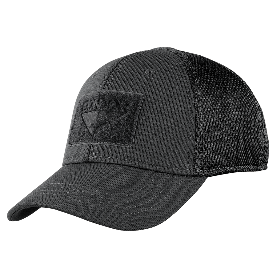 ... Build Your MESH-BACK Fitted Tactical Cap - Black 6a57a7e68587