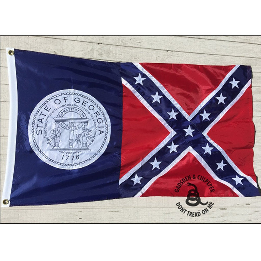 3x5 ft Georgia Confederate Battle Embroidered Nylon Flag