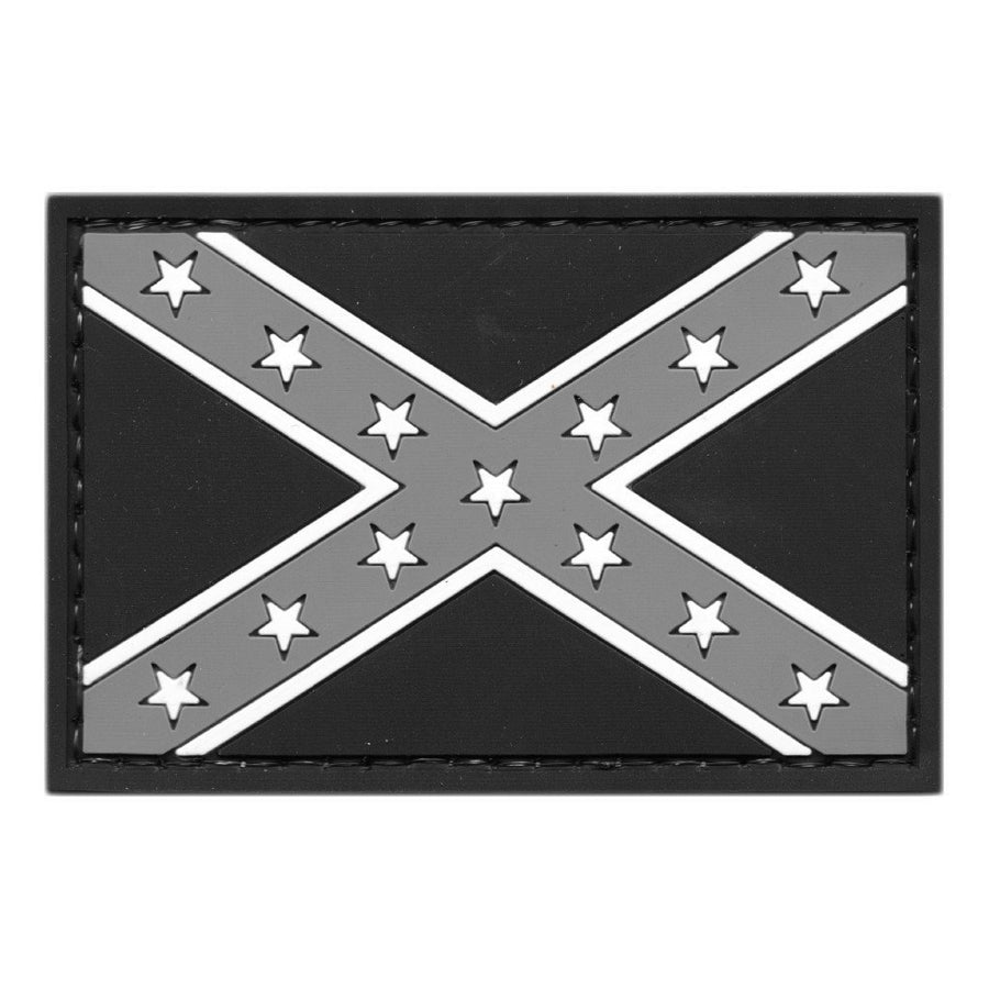 "2"" x 3"" PVC Confederate Flag Tactical Patch"