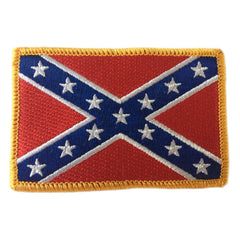 Confederate Flag Shoulder Patches - Iron-On