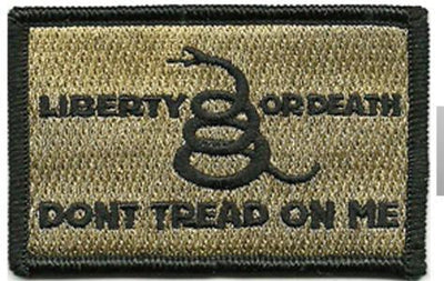 Culpeper/Liberty or Death Tactical Hat Patches