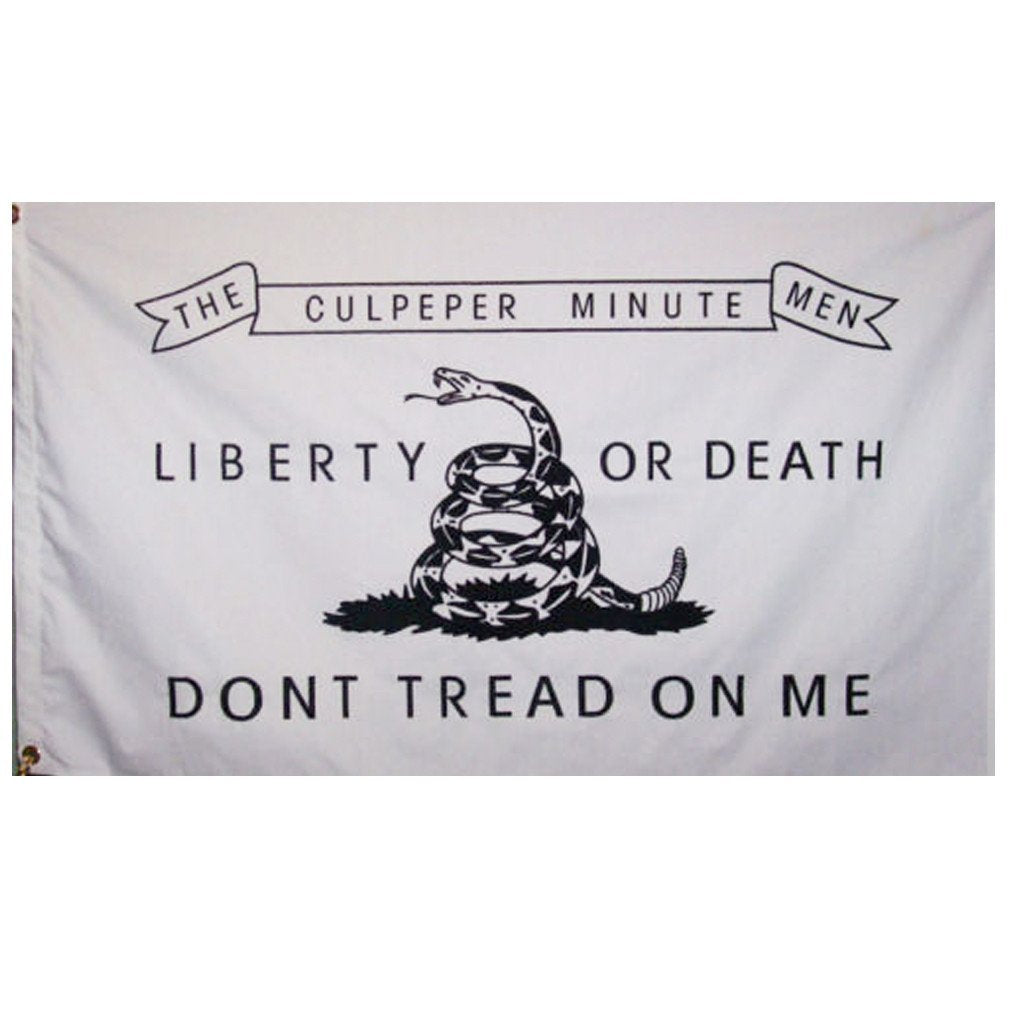 3x5 ft White Culpeper Super-Poly Flag