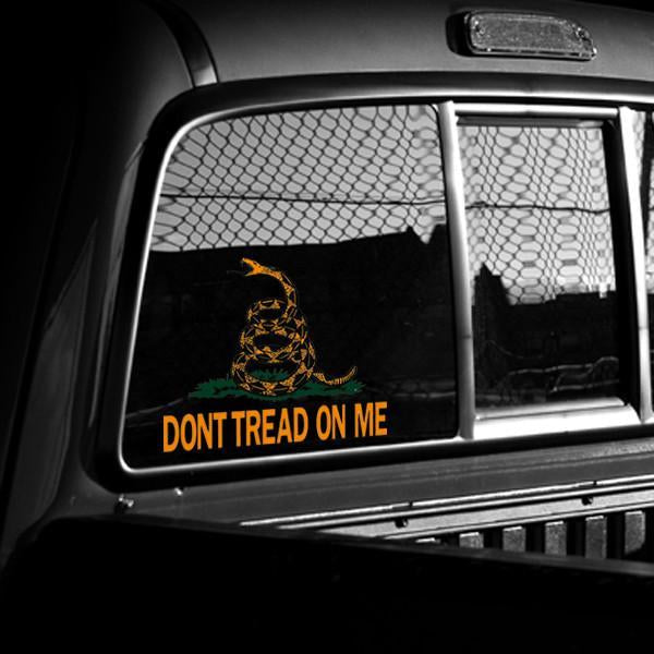 "Extra-Large 8"" x 10"" Vinyl Dont Tread On Me Decal"