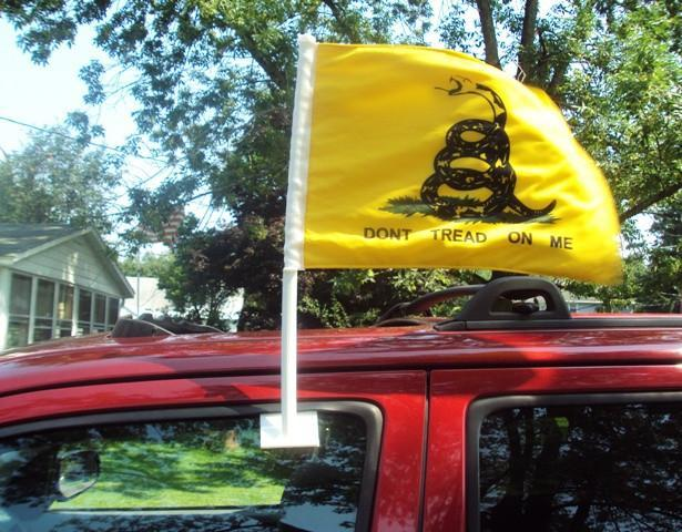 Don't Tread On Me Premium Auto Flag