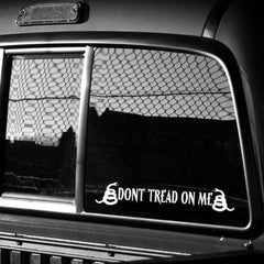 "Dont Tread On Me Vinyl Decal - 2"" x 12"""