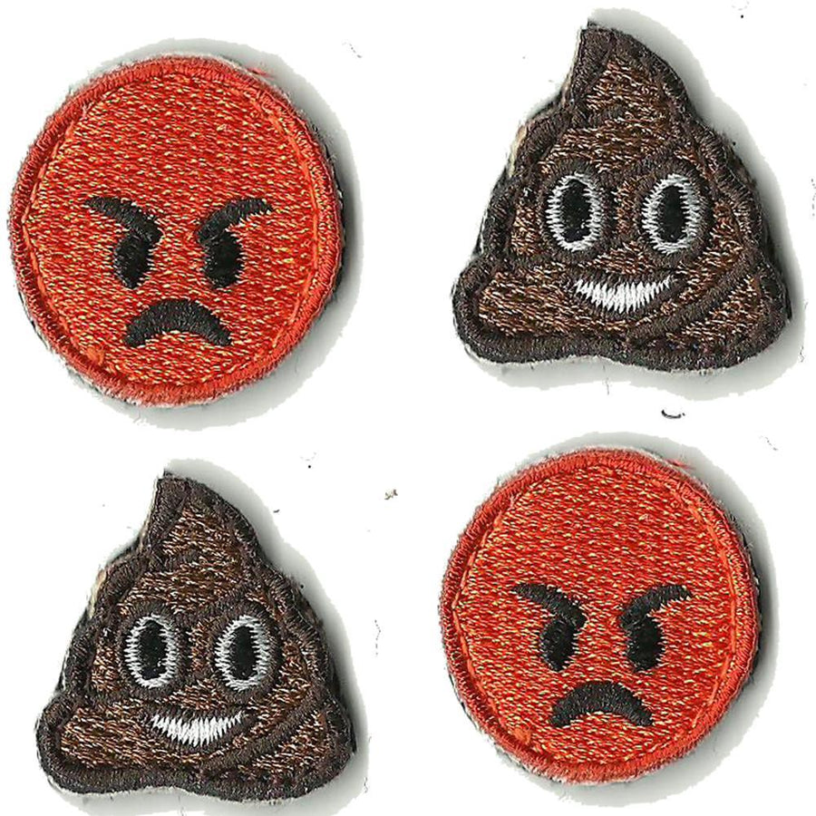 "4-pk Emoji - 1"" Emoji Tactical Patches"