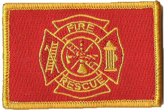 "2""x3"" Fire Rescue Tactical Patches"