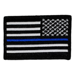 U.S. Thin Blue Line Flag Patch Reverse