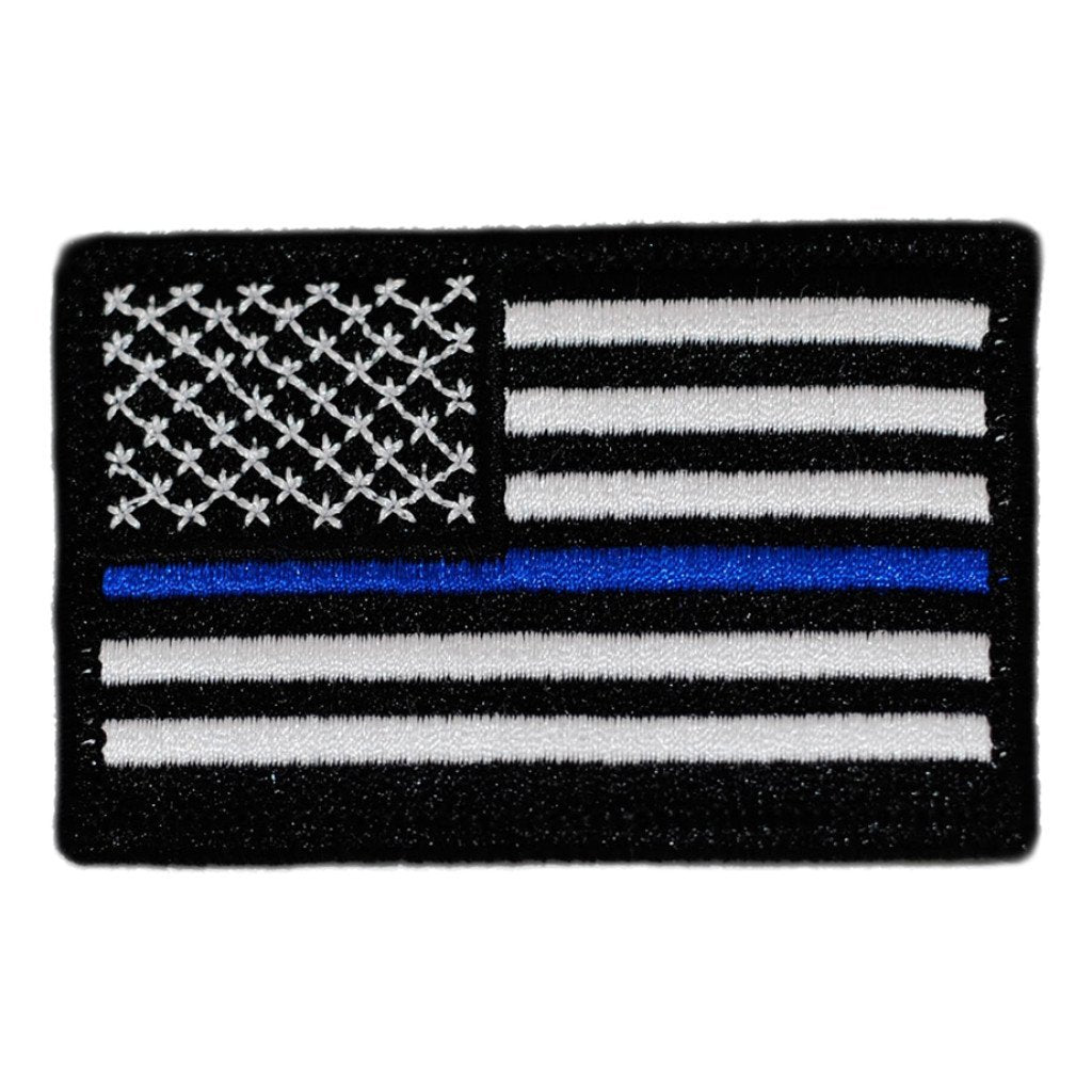 U.S. Thin Blue Line Flag Patch