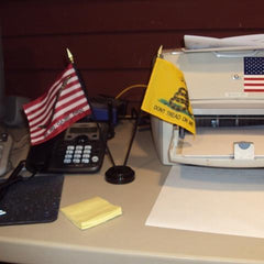 Navy Jack & Gadsden Desk Flag Set