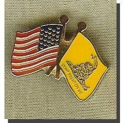 USA-Gadsden Flag Lapel Pin