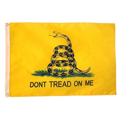 Double Sided Super Poly Gadsden Flag: 2 Sizes Available
