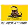 3 x 5 Ft Gadsden LIVE super poly flag