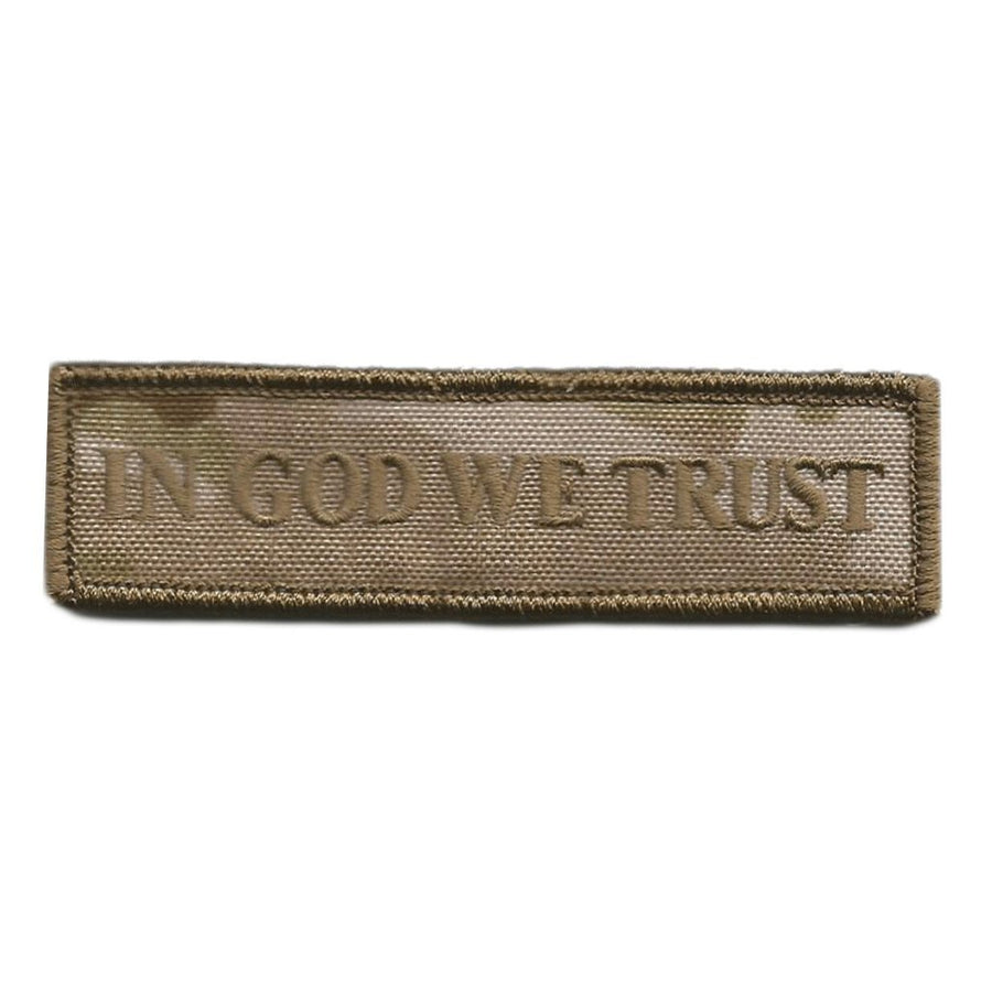 MULTICAM-Arid - In God We Trust Morale Patch