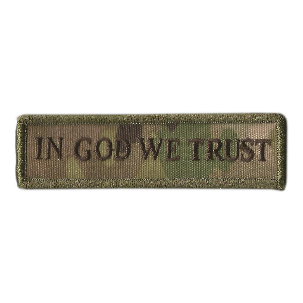 "MULTICAM - In God We Trust Morale Patch - 1"" x 3 3/4"""