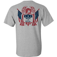 EAGLE USA - Athletic Grey T-Shirt 100% Made in USA