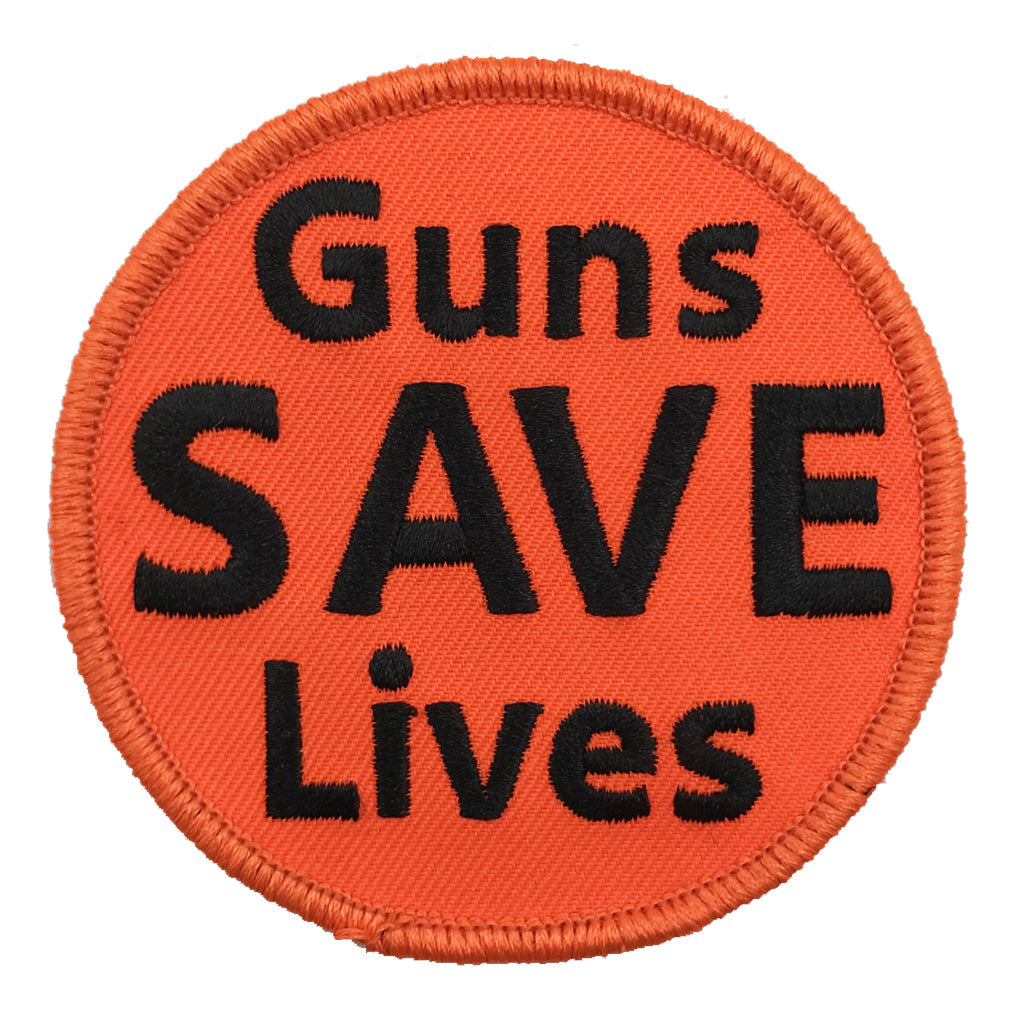 "3"" Guns Save Lives Patch"