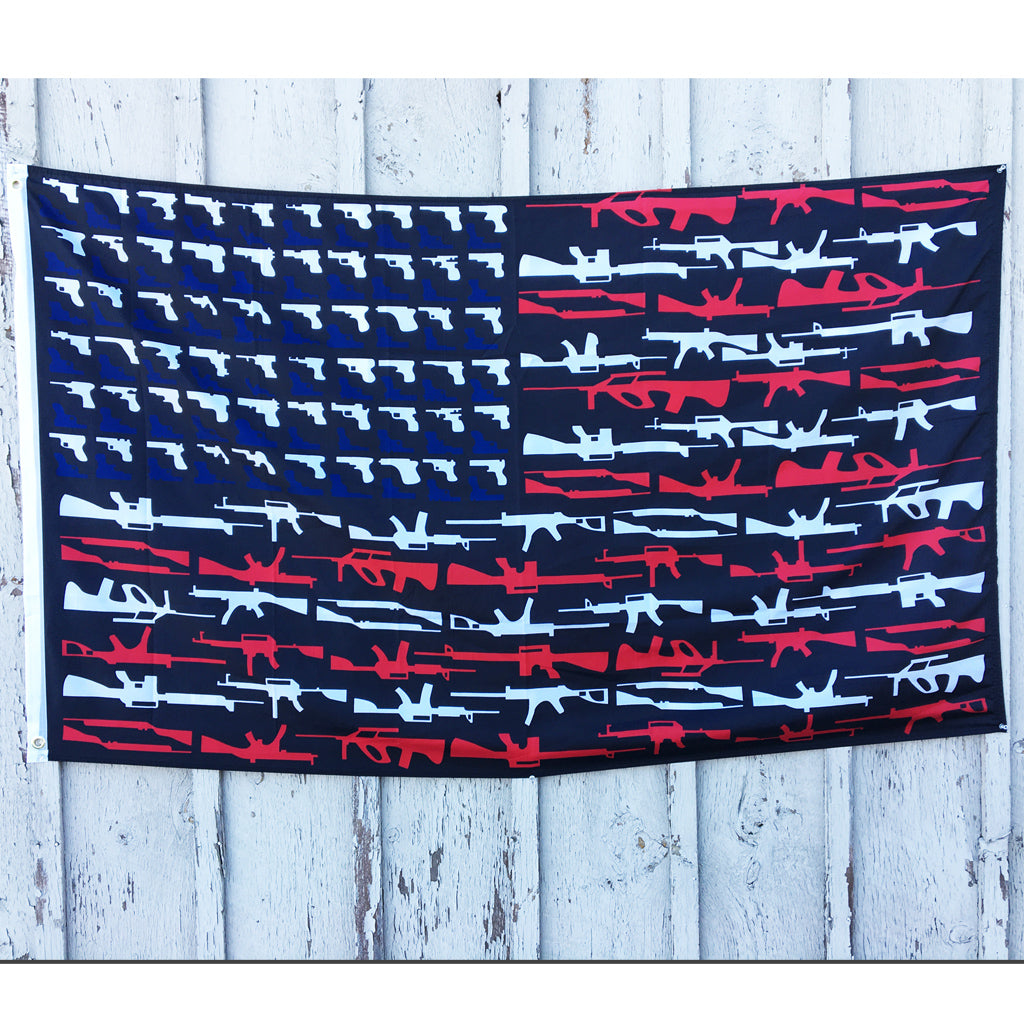 3 x 5 Ft Black Guns Super Poly Flag