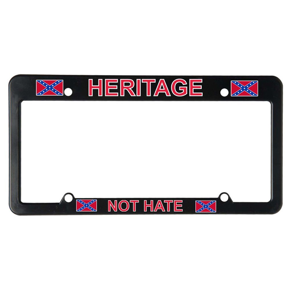 Heritage Not Hate Auto License Plate Frame (Black)