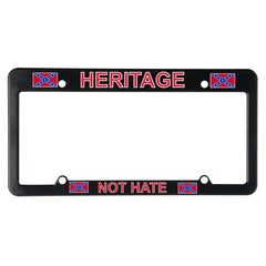 Heritage Not Hate Auto Frame - Black