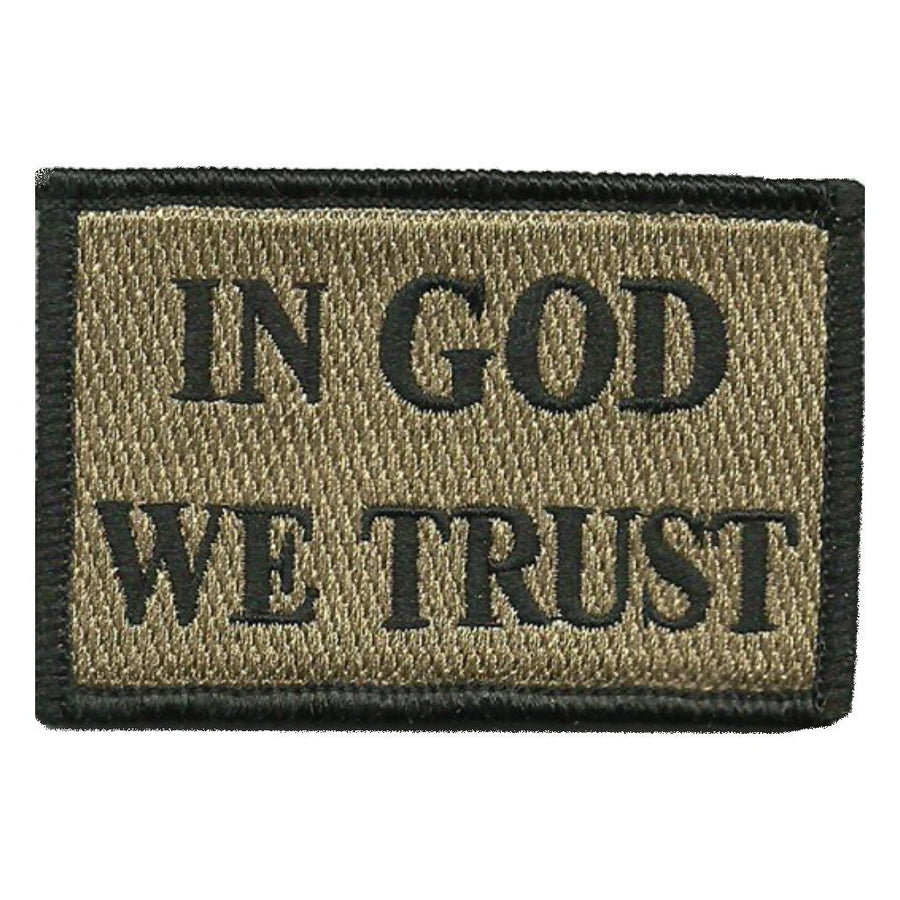 "2""x3"" In GOD We Trust Tactical Patch"