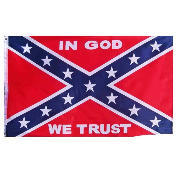 3x5 ft In GOD We Trust Rebel Super-Poly Flag