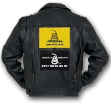 Liberty Or Death- Motorcycle Vest - Iron-On