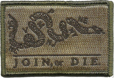 "2"" x 3"" Tactical Join Or Die Patch"