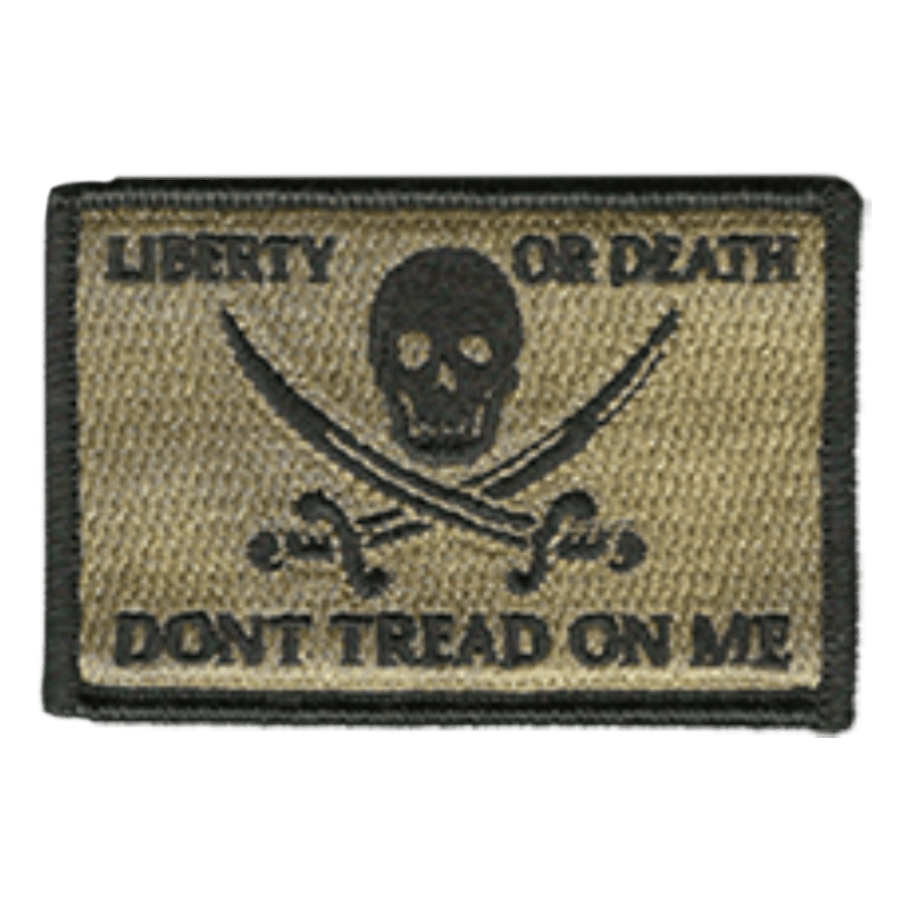 "2""x3"" Skull and Swords Calico Jack Tactical Patch"