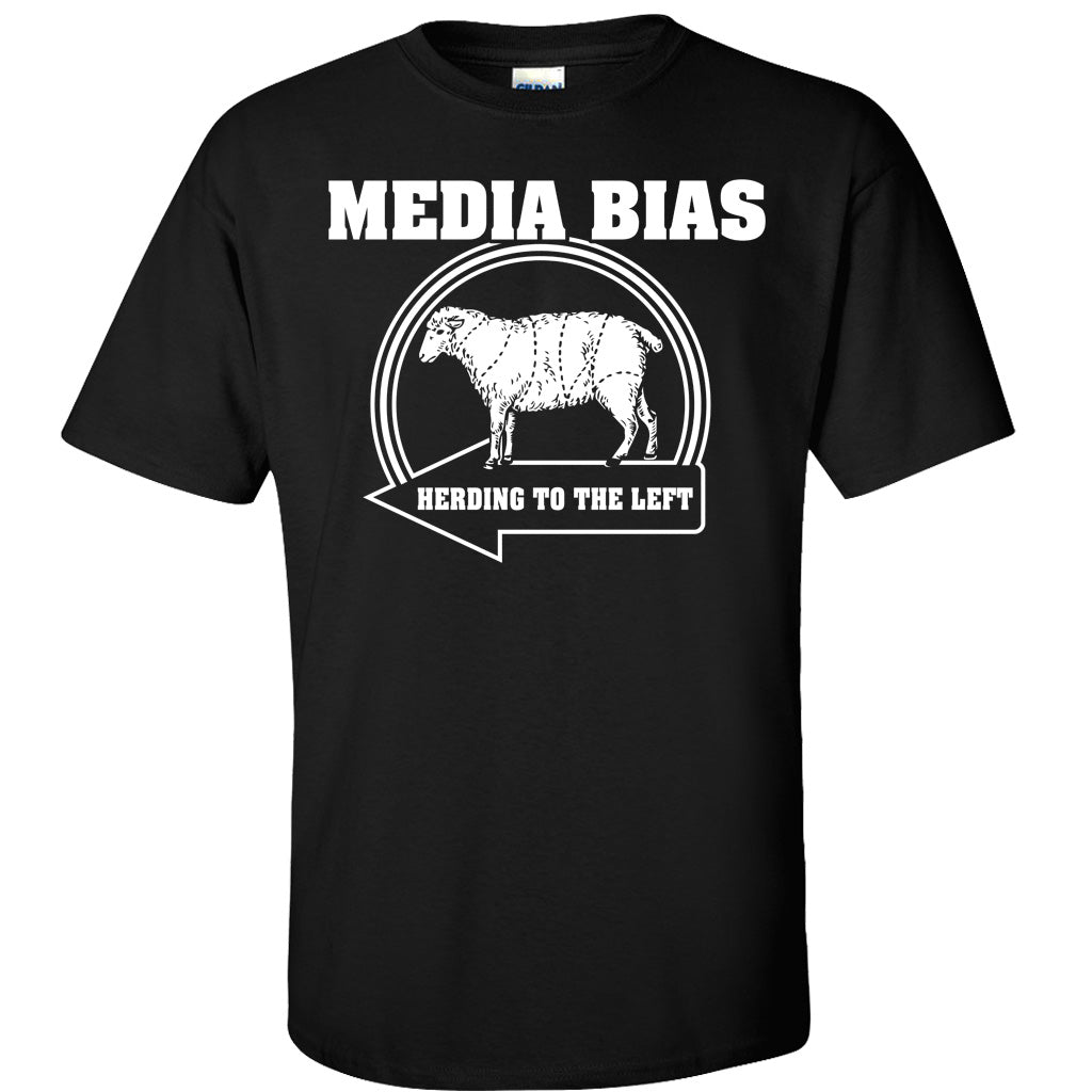 Media Bias Black T-Shirt