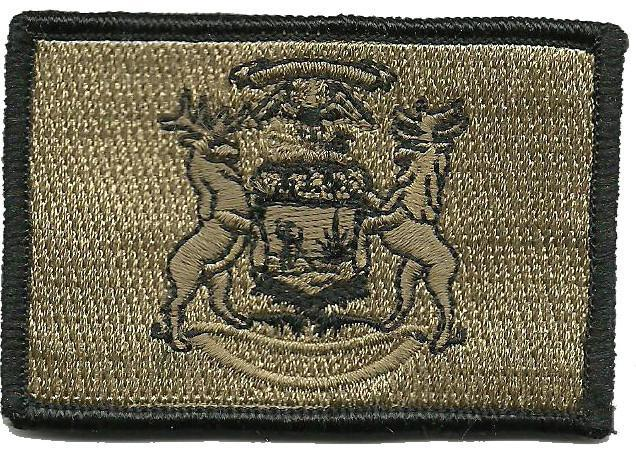 MICHIGAN STATE POLICE IRON OR SEW-ON PATCH SMALL SHOULDER PATCH