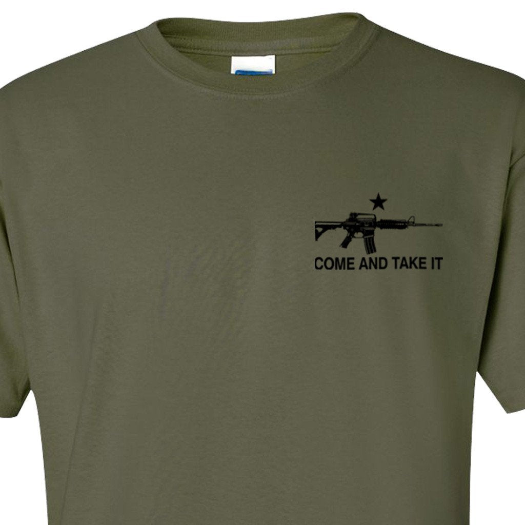 Olive Drab Assault Rifle Come and Take It T-Shirt