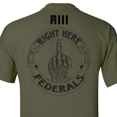 Military Green Right Here Federals