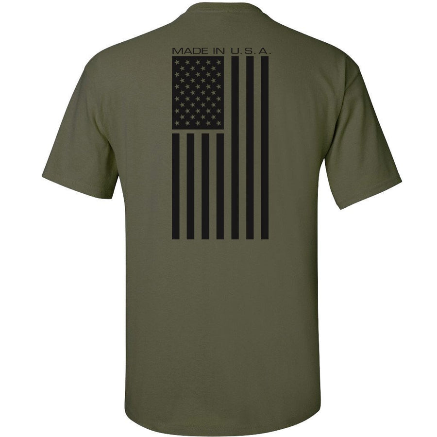 Made in USA Mil-Green T-Shirt - Back Printed