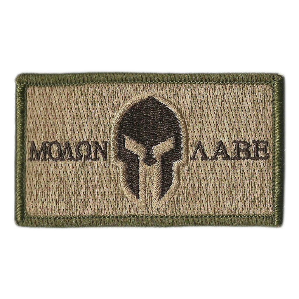 "2"" x 3.5"" Molon Labe Tactical Patch - Made to Fit- 5.11/Rothco caps"