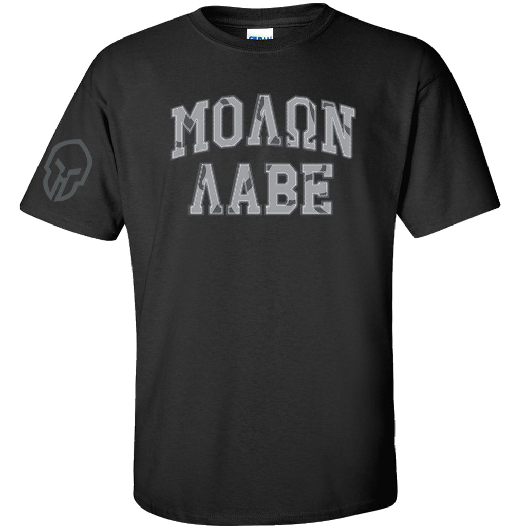 Molon Labe T-Shirt - Black w/ Spartan Sleeve
