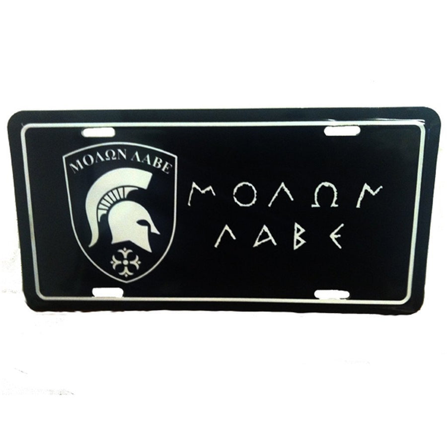 Molon Labe License Plate - Black