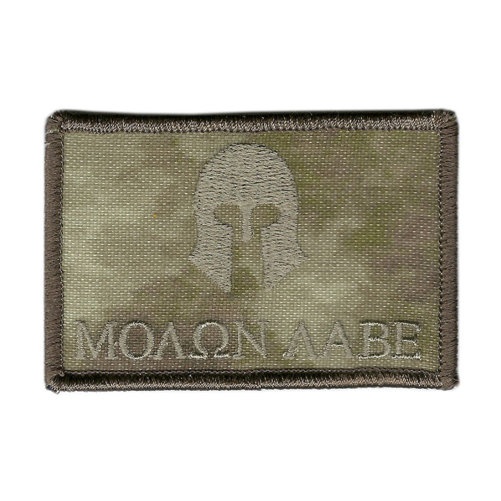 "ATACS-AU - Molon Labe Tactical Patch - 2"" x 3"""