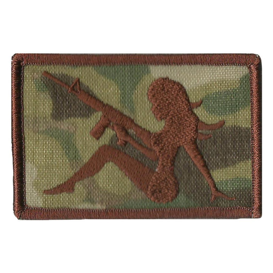 "MULTICAM - AR-15 Trucker Girl Tactical Patch - 2"" x 3"""