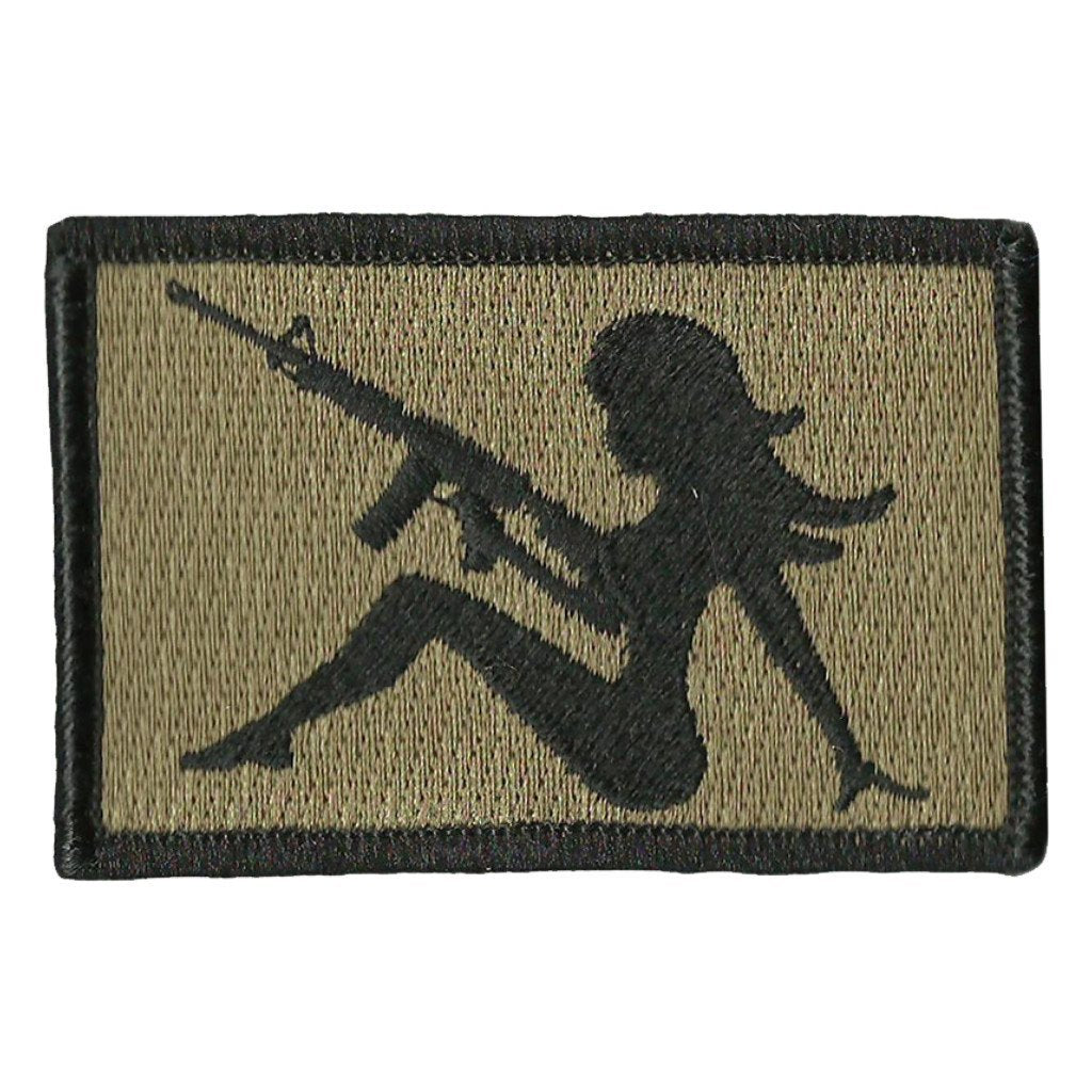 "2""x3"" AR-15 Trucker Girl Tactical Patch"